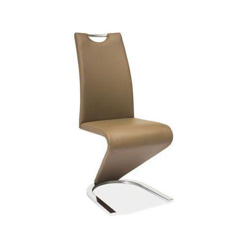 Krzesło h-090 cappuccino chrom marki Signal
