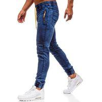 Spodnie jeansowe joggery męskie granatowe denley y269a marki Red fireball
