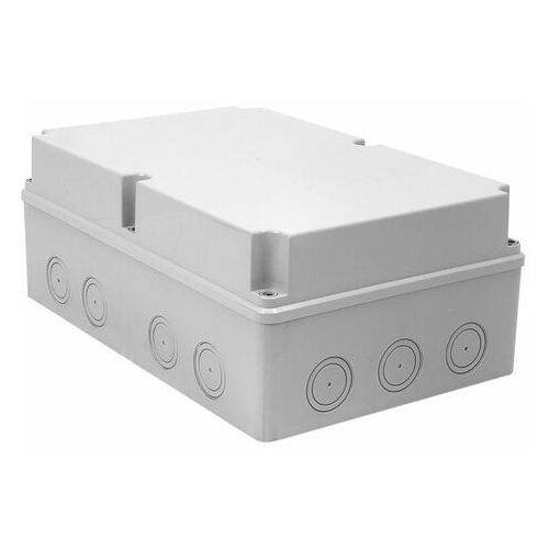 Zph elektro-plast sp. z o.o. Puszka n/t hermetyczna pusta z osłabieniami 348x228x142 ip65 szary ph-5a.2 28.52