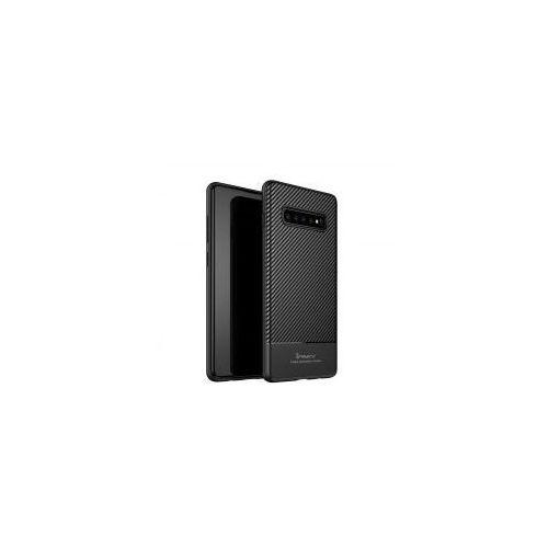 iPaky Carbon Fiber elastyczne etui pokrowiec Samsung Galaxy S10 Plus czarny (7426825365125)