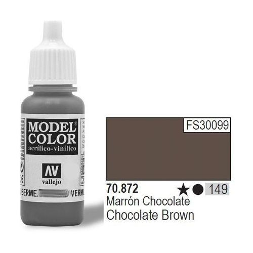 farba nr149 choc olate brown 17mlmatt marki Vallejo