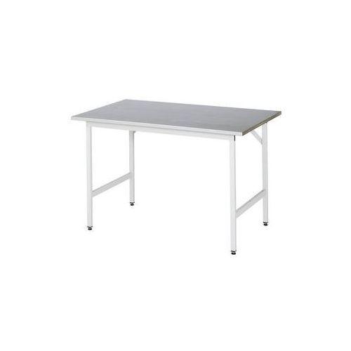 Rau Stół roboczy, z regulacją wysokości,800 - 850 mm, blat z okładziną z blachy stalowej