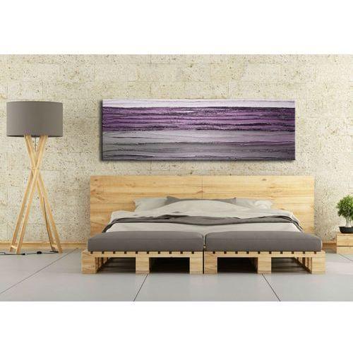 Obraz na ścianę z fioletem 150x50cm boki 4cm