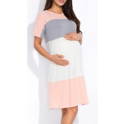 Sukienka ciążowa z wiskozy w pasy nowa kolekcja 1556 marki Kasandra