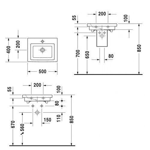 Duravit 2nd floor 50 x 40 (0790500070)