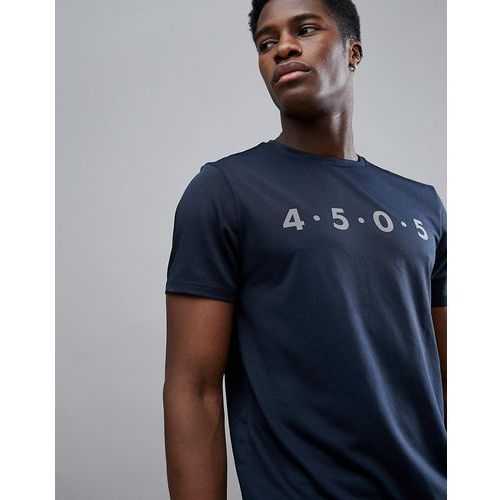 Asos 4505 t-shirt with quick dry and reflective logo print - blue
