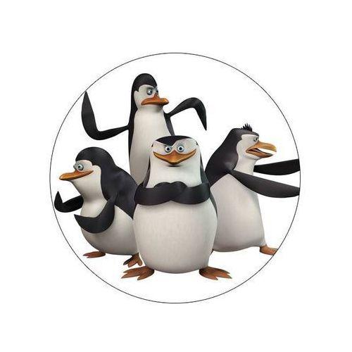 Dekoracyjny opłatek tortowy pingwiny z madagaskaru - 20 cm - 9 marki Modew