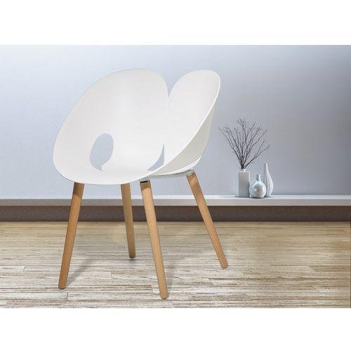 Krzesło do jadalni białe MEMPHIS