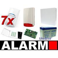 Satel Zestaw alarmowy ca-10 led, 7 czujek, sygnalizator zewnętrzny