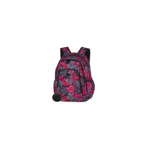 Patio Coolpack plecak strike red black flowers+gratis