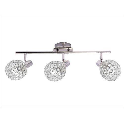 klara kr 322-3l listwa lampa sufitowa plafon spot 3x40w e14 chrom marki Krislamp