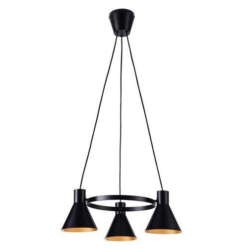 Lampa wisząca more 33-71156 metalowa oprawa zwis industrialny okrąg ring czarny marki Candellux