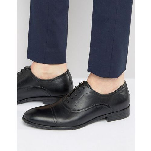 toe cap oxford shoes in black leather - black marki Red tape
