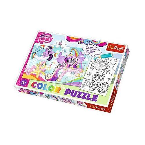 Trefl Puzzle color 20 elementów. kucyki pony w swojej krainie