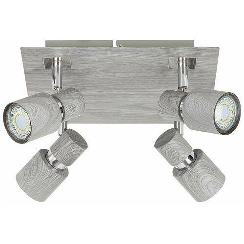 Plafon lampa sufitowa spot Rabalux Merkur 4x50W GU10 wenge 6008, 6008