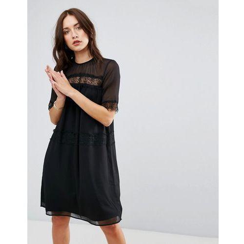 cicotta lace insert dress - black marki Y.a.s