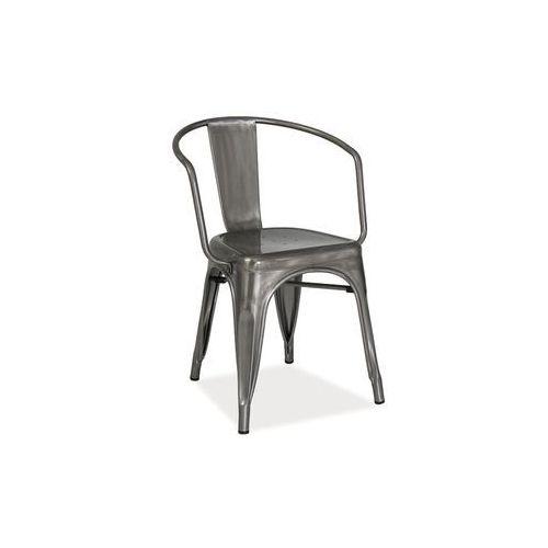 Krzesło metalowe SIGNAL ALVA stal szczotkowana LOFT