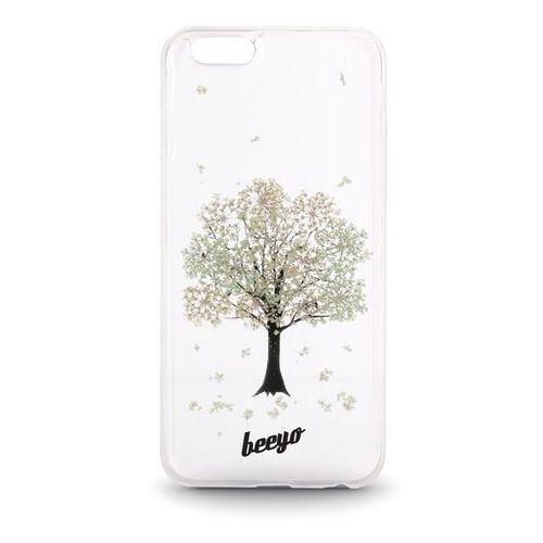Silikonowa nakładka etui beeyo blossom do iphone 6/6s transparentna + ecru marki Telforceone
