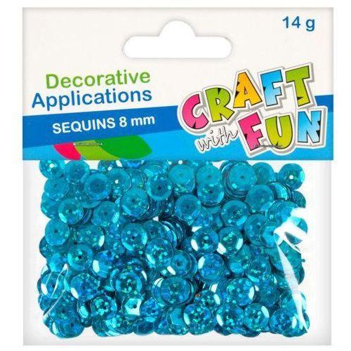 Craft with fun Ozdoba dekoracyjna guzik laser 8mm niebieskie