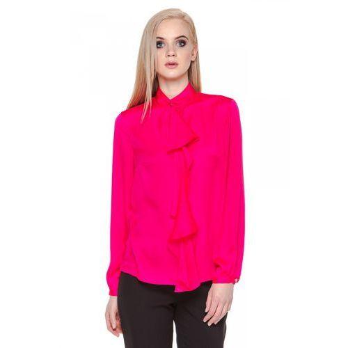 Różowa bluzka z ozdobnym wiązaniem - marki Duet woman