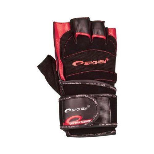 Spokey Rękawice fitness miton (rozmiar m) czarno-czerwony