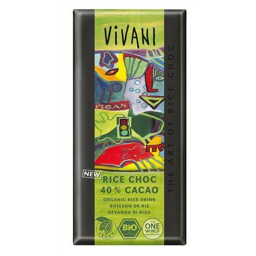Czekolada vegan (na napoju ryżowym) 40% kakao bio 100 g -  marki Vivani