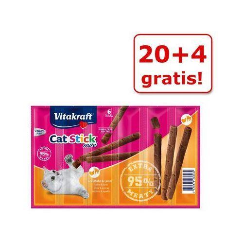 Vitakraft 20 + 4 gratis! cat stick mini, 24 x 6 g - indyk i jagnięcina (7610376238469)
