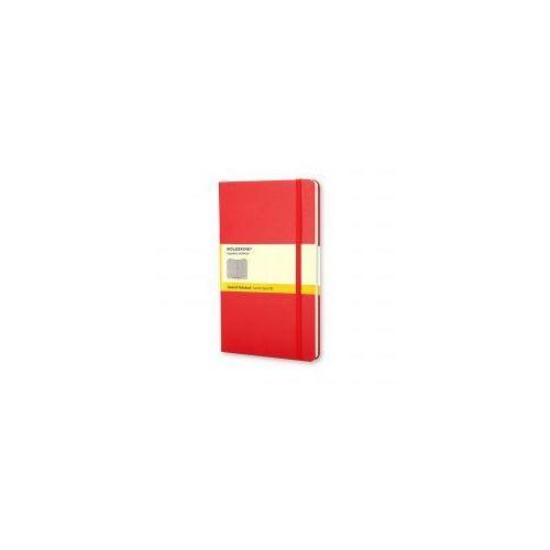 Moleskine Notatnik classic l kratka, twarda oprawa, czerwony (9788862930338)
