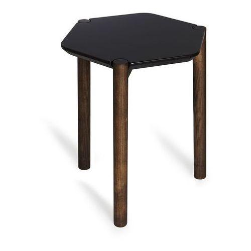 - stolik lexy - czarny/orzech włoski - orzech włoski marki Umbra