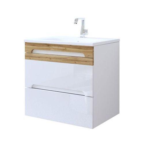 Szafka łazienkowa wisząca 60 cm pod umywalkę galaxy white marki Comad
