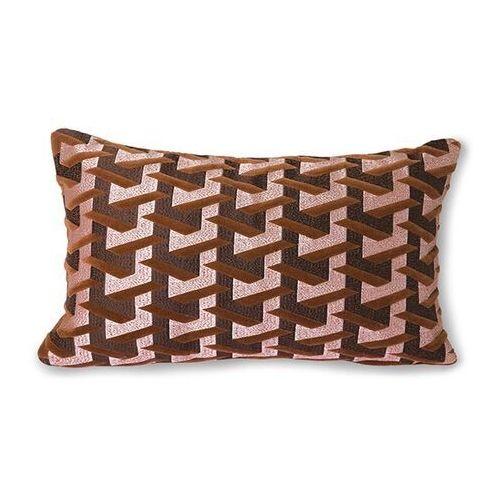 Hkliving poduszka w geometryczne wzory bordowa (30x50) tku2105