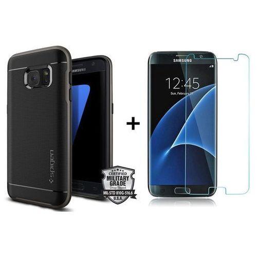 Zestaw   Obudowa Spigen Neo Hybrid Carbon Black Gunmetal + Szkło ochronne Perfect Glass na cały ekran dla modelu Samsung Galaxy S7