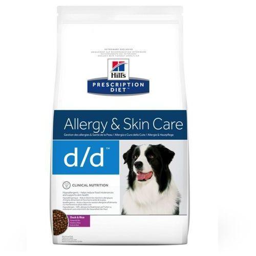 HILL'S PD Prescription Diet Canine d/d Kaczka i Ryż (Duck and Rice) 12kg - 12000