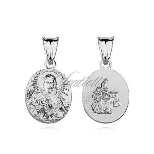 Srebrny medalik jezus matka / boska szkaplerzna - m098 marki Sentiell