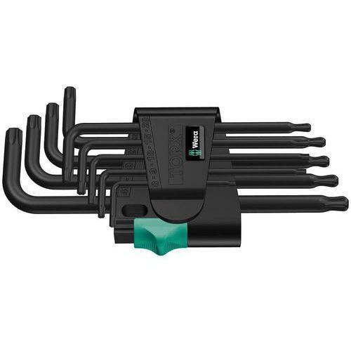 WERA Klucze trzpieniowe TORX długie z kulką 9cz. TX 8-40 967 PKL/9, 967 PKL/9 TORX®