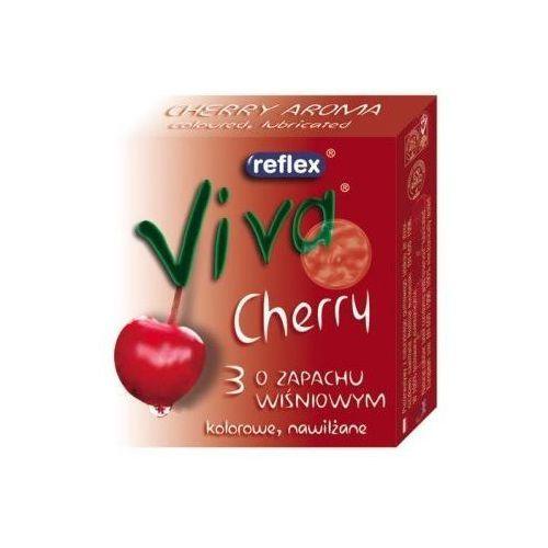 Reflex Viva Cherry Prezerwatywy czerwone o zapachu wiśni 3 sztuki API Promocja dla towaru o ID:622 (-19%)