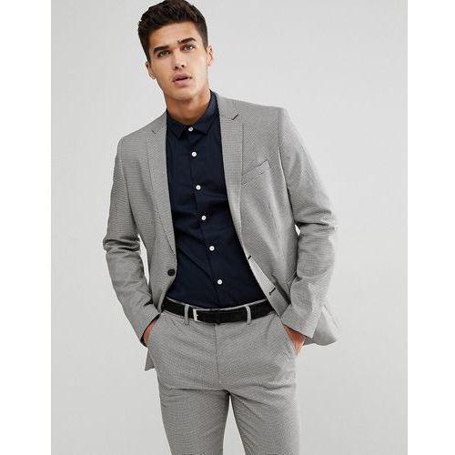 suit jacket in grey houndstooth - black marki New look