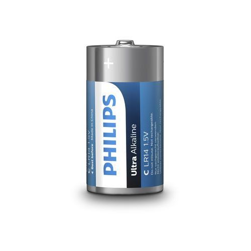Baterie alkaliczne Philips Ultra Alkaline LR14 C (blister) 2 sztuki (8712581550400)