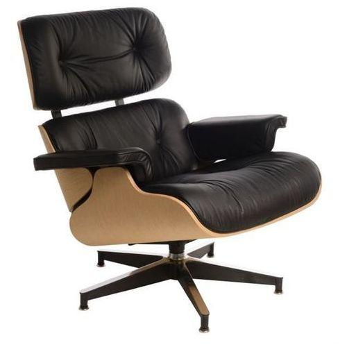 Fotel Vip inspirowany Lounge Chair - czarny ||natural, 42284