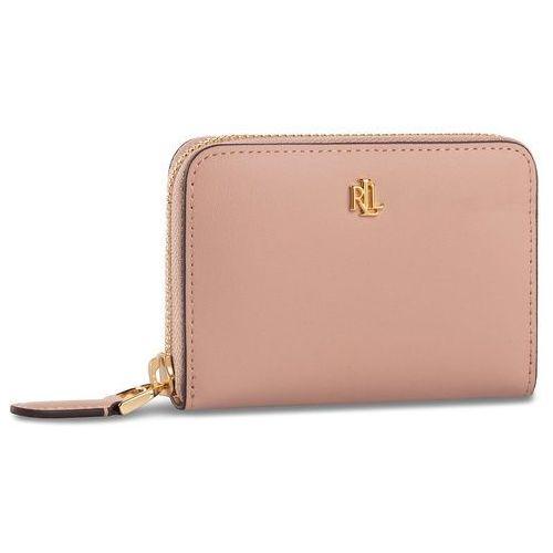 Lauren ralph lauren Mały portfel damski - sm zip wllet 432754175005 pink/porcini