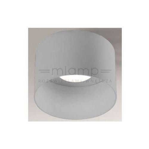 Shilo Sufitowa lampa natynkowa konan 1146/gx53/sz metalowa oprawa okrągła szara