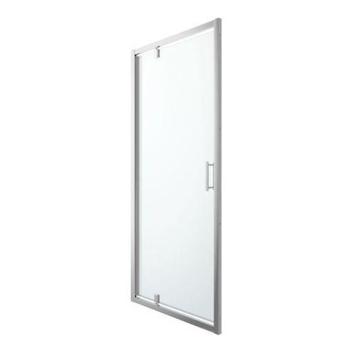 Goodhome Drzwi prysznicowe wahadłowe beloya 100 cm chrom/transparentne (3663602944836)