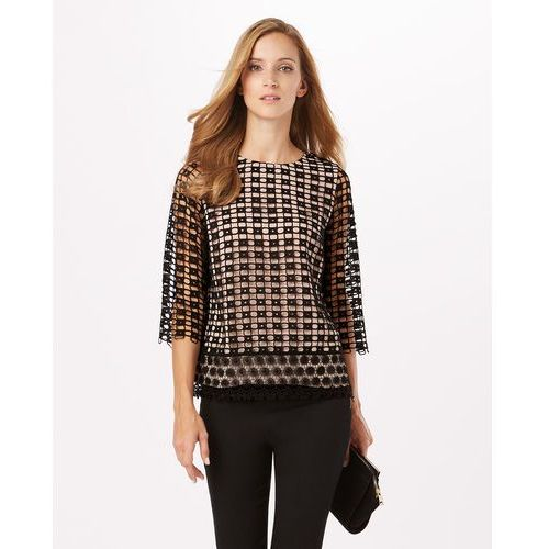 Phase eight  joy textured contrast lace blouse (5057122004909)