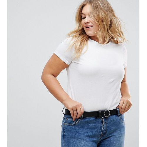 ASOS CURVE Jeans Belt With Circle & Triangle Detail Buckle Water Based - Black