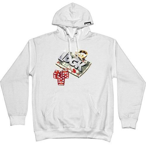 bluza DGK - Roll Out Hooded Fleece White (WHITE) rozmiar: XL, 1 rozmiar