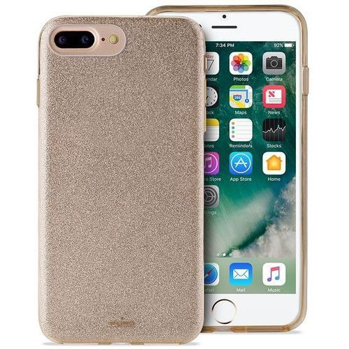 PURO Glitter Shine Cover - Etui iPhone 8 Plus / 7 Plus / 6s Plus / 6 Plus (Gold) Limited edition