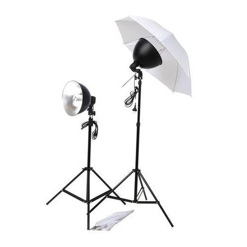 vidaXL Zestaw do oświetlenia studyjnego z parasolkami, kloszami i statywami (8718475814870)