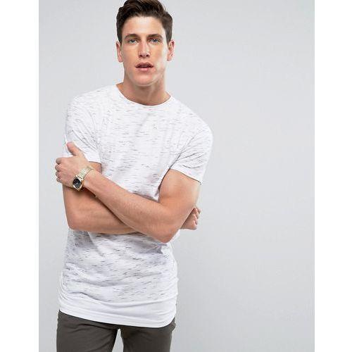 Bellfield Longline T-Shirt In Spacedye With Layered Hem - Grey, kolor szary