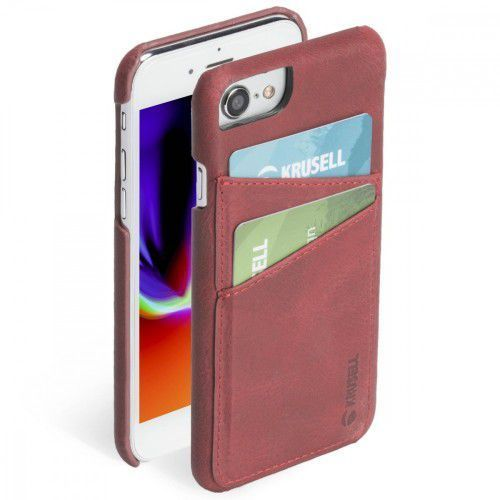Krusell Etui Apple iPhone 6/7/8 SUNNE 2 Card Cover Czerwony, 1_624835
