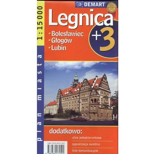 Legnica plus 3 mapa 1:15 000 Demart (2012)